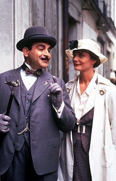Death in the Clouds - not a bad adaptation of the book. Poirot is SO charming.