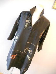 飛行機で飛ぶ着物リメイク Kimono Dress, Refashion, Motorcycle Jacket, Easy, Blouse, Skirts, Pants, Jackets, Upcycle