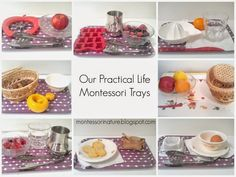 Montessori Nature: Our Practical Life Montessori Trays