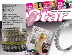 Check out our stack rings in Lust List section of this month OK!'s Star magazine!