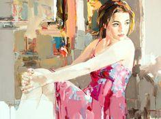Pintura y Fotografía Artística : Retratos modernos pintados con espátula de Josef Kote