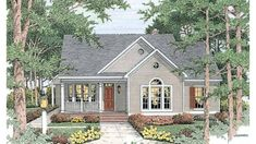 Country house plans create a relaxed yet luxurious feeling that welcomes visitors. Find cottage home plans, low country house plans, and modern farmhouses. Country House Plans, Small House Plans, House Floor Plans, Cottage Floor Plans, Small Open Floor House Plans, Open Floor Plan Homes, Family Home Plans, New House Plans, Haus Am See