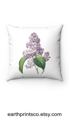 """Floral throw pillow cover / botanical throw pillowcase / Cottagecore floral pillow case / Lilac flower cover for accent pillows ✻ Pillow cover / Pillowcase ✻ floral botanical design ✻ Lilac print ✻ Available 4 sizes: 14""""x14"""", 16""""x16"""", 18""""x18"""", 20""""x20"""" ✻ Pillow is not included ✻ 100% Polyester ✻ Double-sided print ✻ Concealed zipper Square Pillow Covers, Throw Pillow Covers, Pillow Cases, Floral Throw Pillows, Accent Pillows, Lilac Flowers, Zipper, Design, Dwarf Lilac"""