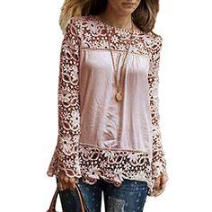 ZANZEA Women's Casual Long Sleeve Embroidery Lace Crochet Chiffon Tops Blouse Khaki ZANZEA http://www.amazon.com/dp/B00V82SR04/ref=cm_sw_r_pi_dp_FyqJvb1XME12A