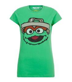 Green Oscar The Grouch T-shirt