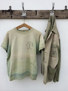 Perfectly worn, vintage Vietnam 1st Marine Division, Guadalcanal sweatshirt and jacket. The condition is absolutely amazing! No stains, rips or holes. Highly unusual for a piece(s) this old.