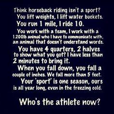 Think horseback riding isn't a sport? Think again!