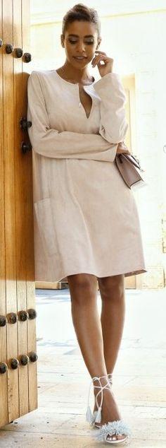 Beige Midi Dress                                                                             Source