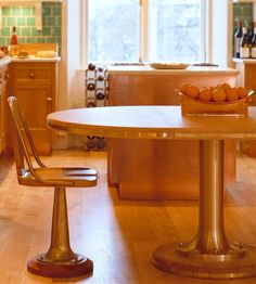 Authentic yacht chair. Great idea for the boy's kitchen.