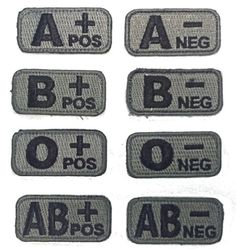 9e9c3c895fc Amazon.com  Blood Type Patches - Mil-Spec Monkey ACU DARK (A POS)  Military  Apparel Accessories  Clothing
