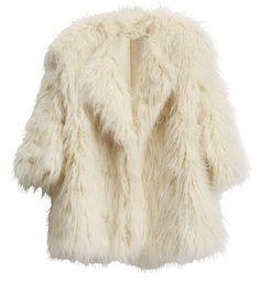 H&M Studio Collection AW14 Cream furry jacket £49.99