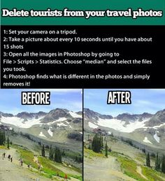 Delete tourists from your photo