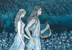 Orpheus and Eurydice in  the dark halls of Hades by Ephaistien.deviantart.com on @DeviantArt