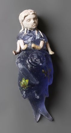 Christina Bothwell Vishnu #5 Cast glass, ceramic, oil paint, found objects 8 x 3 x 3 Inches