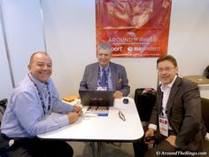Francisco Campo of Cartan Tours, ATR editor Ed Hula, Dmitry Tugarin of RIA Novosti. #SportAccord #Conference #SAC2013 #SportAccordConvenion #Olympics #Sports #AroundTheRings #Russia