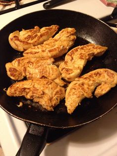 Seared spicy Buffalo chicken tenders