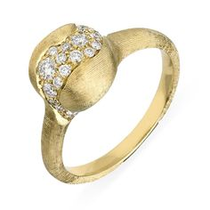 Marco Bicego Africa 18ct Yellow Gold 0.29ct Diamond Medium Ring, AB591 B For luxury easy to wear jewellery, the Marco Bicego collections are the perfect place to start. The fascinating combination of Italian craftsmanship and creativity produces the signature designs that Marco Bicego is famous for Bicego's designs are based upon three signature hallmarks including multi coloured gem stones, hand twisted coil and hand engraved 18ct gold, all which are showcased in his world renowned…