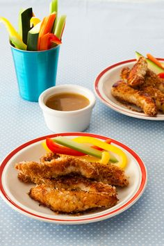 Crispy Chicken Strips with Honey Mustard recipe (great for kids!)