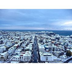 Even on the cloudiest of days, Iceland is stunning. This chilly weather would be a little more bearable if we had this view. #Iceland #3rdRockAdventures #TravelTheWorld