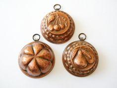 miniature copper molds vintage miniature french molds