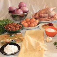 Pastilla ingredients -Moroccan food