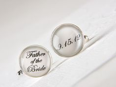 Father of the Bride Cufflinks with Your by MickyChaseJewelry, $38.00
