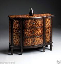 Leopard Spotted Cabinet Console Table Jaguar Style Hand Finished New Free SHIP | eBay