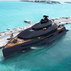 Stealth Super Yacht  | Via: @lux.toys . . . . . #motivation #sexy #billionaire…
