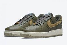Buy Nike Air Force 1 Low Turtle Medium Olive DA8482-200-2 New Nike Air Force, Air Force 1, Sneakers Nike, Pairs, Turtle, Leather, Stuff To Buy, Stork, Coriander