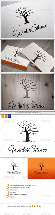 Winter Autumn Silence Tree - Logo Design Template Vector #logotype Download it here: http://graphicriver.net/item/winter-autumn-silence-tree-logo-template/6084448?s_rank=1794?ref=nexion