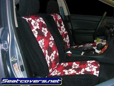 Two Tone Hawaiian Seat Covers Custom Fit Seat Covers, Baby Car Seats, Hawaiian, Red