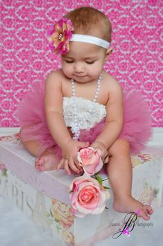 Sweet Rose Tutu With Matching Flower Headband From The Sweet Sweet Couture Collection Perfect For Valentine's Day http://www.etsy.com/listing/89141638/sweet-rose-tutu-with-matching-flower
