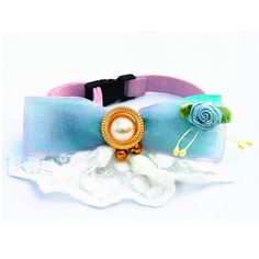 Banana Bear Gentility White Lace Bow Silk Ribbon Bowknot DIY hand-made Pet Collar with Bell Style ** Remarkable product available now. : Collars for dogs