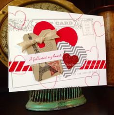 ***card making Easy Valentines Cards - From Christmas Kits!***