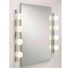 Hollywood Mirror Vanity Lights Combo Pack with LED Bulbs