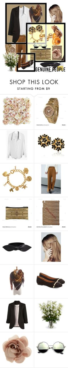 """Black White Neutrals with GENUINE-PEOPLE"" by deluxephotos ❤ liked on Polyvore featuring Pier 1 Imports, Yves Saint Laurent, Monsoon, WithChic, New Growth Designs and Accessorize"