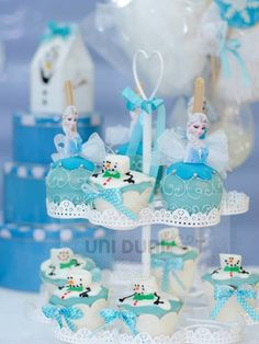 Frozen themed birthday party via Kara's Party Ideas KarasPartyIdeas.com invitations, cake, table, decor and more! #frozen #frozenparty #disn...