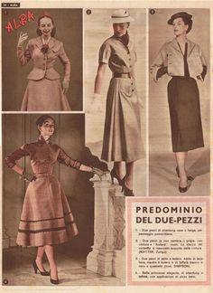 Worn Through » London Fashion Umbrella: Women's Weeklies from 1950s Italy