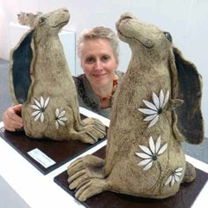 Maggie Betley with Hares