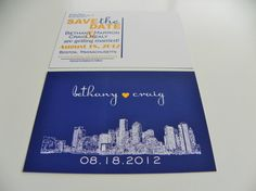 Save The Date Postcards Invitation Engagement by DefineDesign11, $59.00