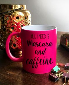 Shop this and other quotable coffee or tea pink mugs at ThePageantPlanet.com. It's a perfect gift idea or to even treat yourself!
