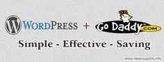 GoDaddy WordPress Hosting Coupon: $1/month plus FREE Domain