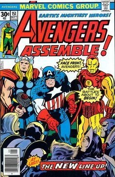Avengers 151 cover by Jack Kirby