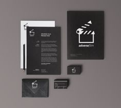 Adverse Film // Corporate Id by Cristiano Vicedomini, via Behance