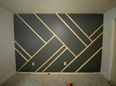 Bedroom Wall Designs, Accent Wall Bedroom, Bedroom Decor, Accent Wall Designs, Wood Accent Walls, Bedroom Paint Design, Black Accent Walls, Accent Walls In Living Room, Master Bedroom Design
