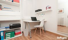 #proyectosantalo #iloftyou #interiordesign #ikea #barcelona #lowcost #despacho #pax #fjalkinge #eameschair #galant #enje #tral #stave