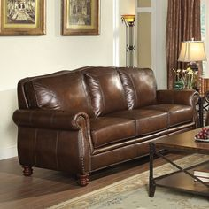 Simon Li Macco Leather Sofa & Reviews Wayfair