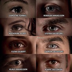 "7,559 To se mi líbí, 151 komentářů – The Vampire Diaries (@tvdsedits) na Instagramu: ""TVD characters eyes • Ic:@tvdfridays Well this took forever to find the screencaps and it looks bad…"""
