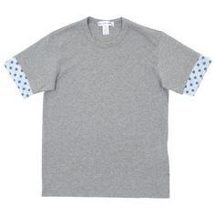 Comme Des Garçons SHIRT Polka Dot Sleeve Tee (Grey)