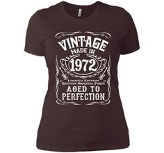 Vintage Made In 1972 Birthday Gift Idea T Shirt